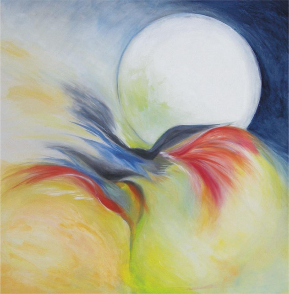 """Meloni Ximenes Liliana, 2010, """"La magica notte delle fate"""".olio"""