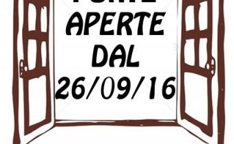 VOLANTINO A5 PORTE APERTE DAL 26 9 16